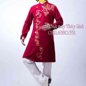 May áo dài nam ở Hà Nội