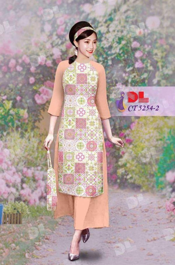 vai ao dai cach tan CT 5254-1-4