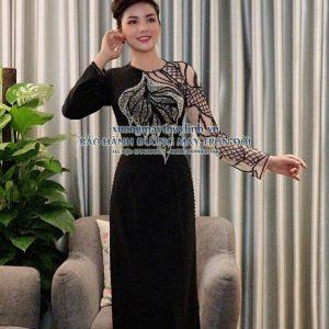 Áo dài đính đá và pha lê sang trọng dành cho hội nghị bà sui, dự tiệc TLDD17